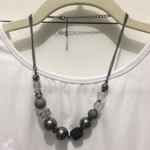 Crystals; and beads on chain